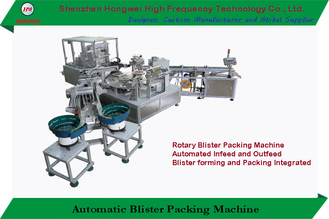 15KW Rotary Automatic Packing Machine 0.6MPa Easy Operation For Battery Blister